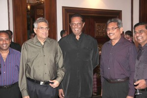 With Opposition Leader Ranil Wickramasinghe and Defence Secretary Gotabaya Rajapaksa
