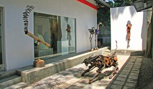 Installations are among the creative works displayed here